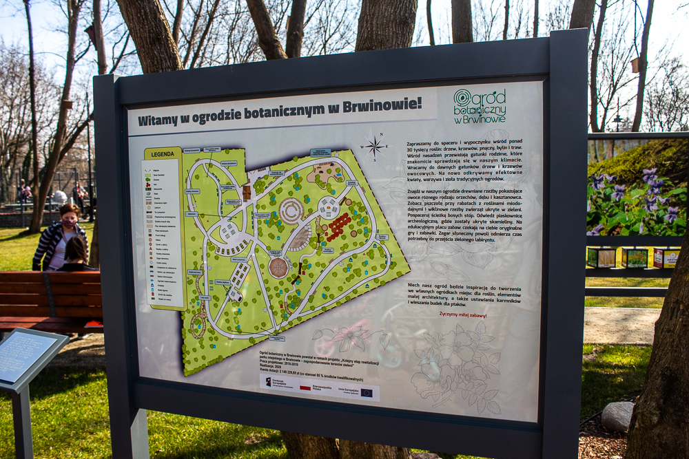 ogród botaniczny Brwinów